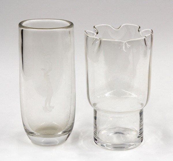 6001: Orrefors crystal vases