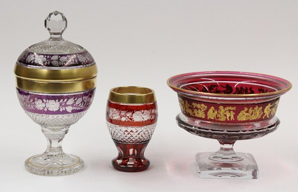 6004: Val St Lambert footed bowl