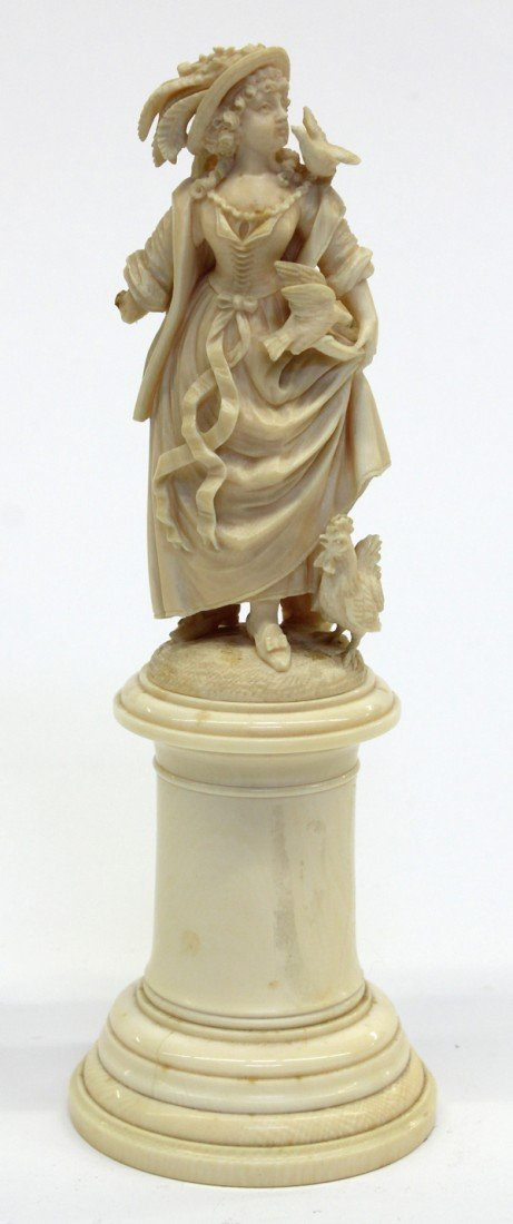 6010: Continental carved ivory group