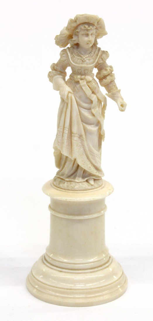 6011: Continental carved ivory group