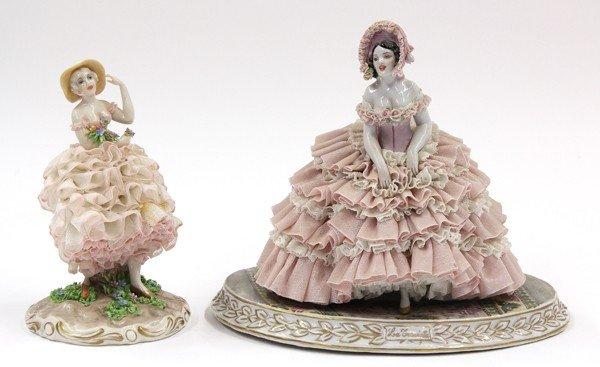 6022: Luigi Fabris porcelain figures