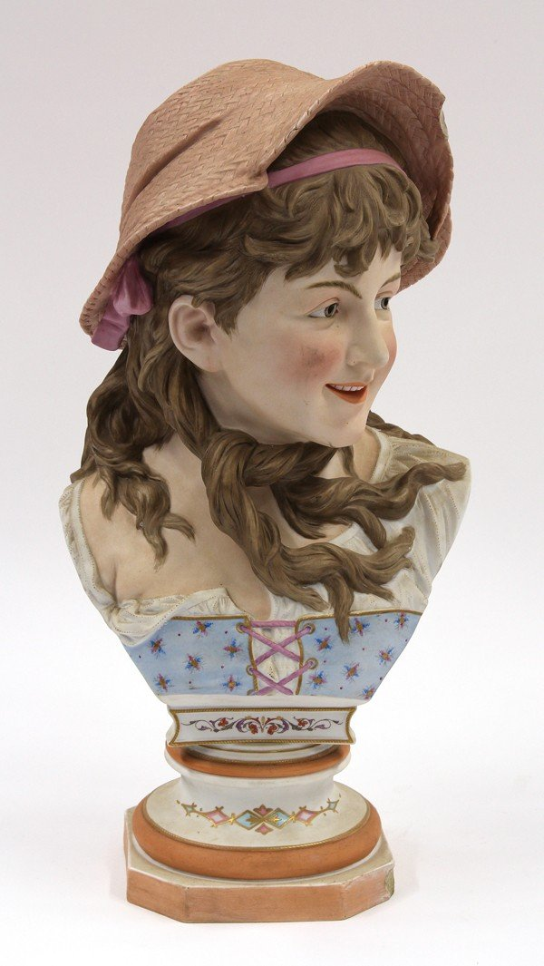6023: Ceramic bust of a girl