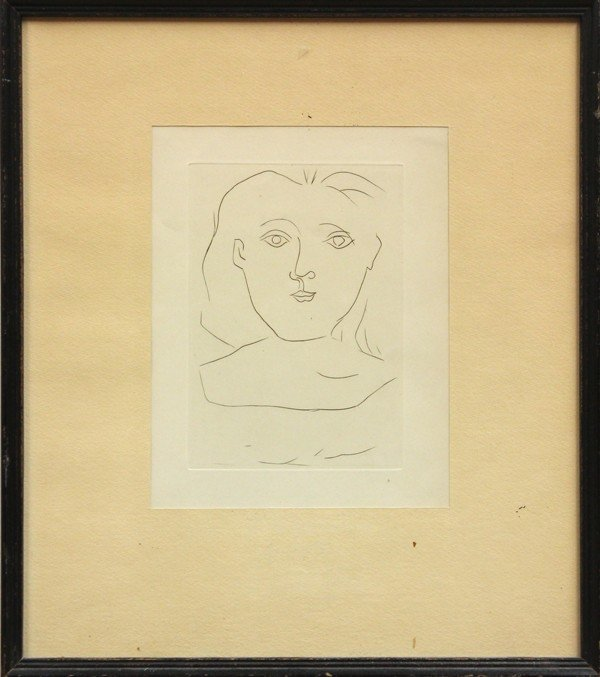 6297: Etching, After Pablo Picasso, Tete Femme