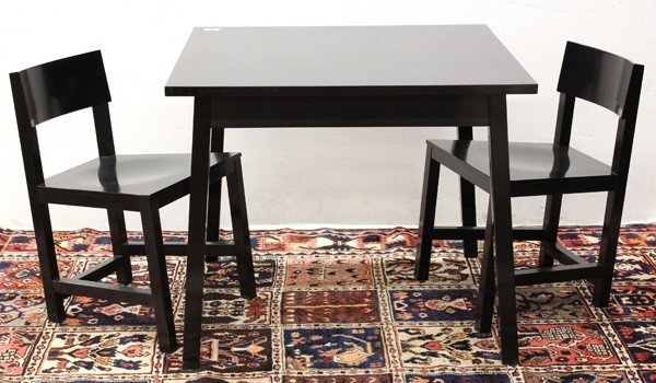 6344: Atelier Van Lieshout AVL Shaker chairs and table