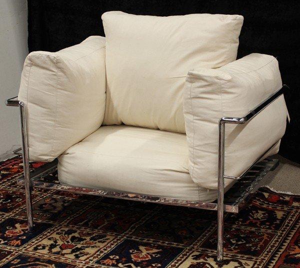 6345: Le Corbusier LC3 style lounge chair