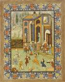 8017 Persian Illustrated Manuscript Page