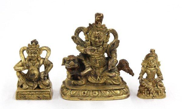 2: Two Himalayan Gilt Metal Kubera Figures