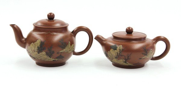 14: Chinese Yixing Zisha Teapots
