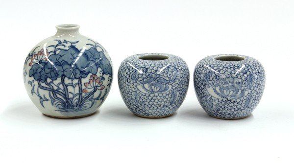 17: Three Chinese Blue-and-White Porcelains