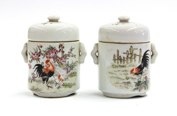 18: Two Chinese Covered Vessels