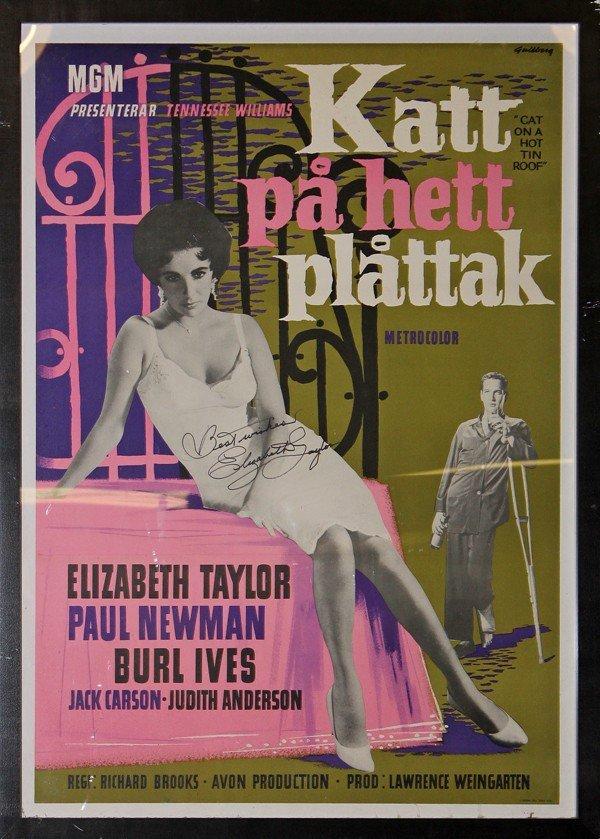 354: Elizabeth Taylor signed Cat on a Hot Tin Roof