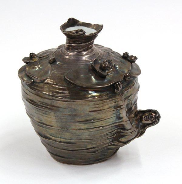 2002: Silvered porcelain vase