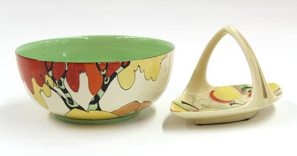 2007: Clarice Cliff art pottery group
