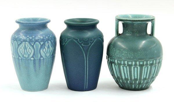 2020: Rookwood art pottery green vase