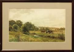 2135 Watercolor Thomas Bigelow Craig Cows