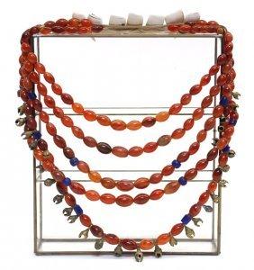 1: Tribal Multi-strand Chalcedony Necklace