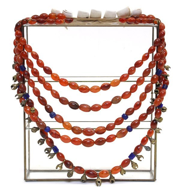 1: Tribal Multi-strand Chalcedony Necklace