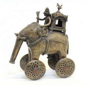 2: East Indian Copper Alloy Pull Toy