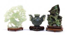 5: Three Chinese Jade/Hardstone Carvings