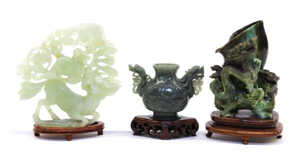 5: Three Chinese Jade/Hardstone Carvings