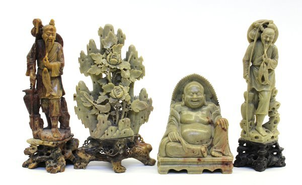 7: Group of Chinese Soapstone Carvings