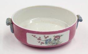 13: Chinese Famille Rose Sgraffito Porcelain Planter