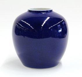 14: Chinese Powder Blue Porcelain Jar
