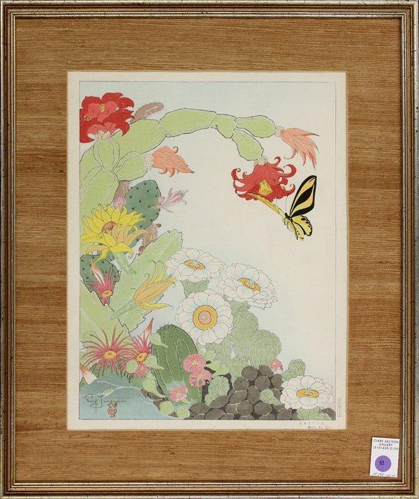 51: Japanese Woodblock Print, Paul Jacoulet