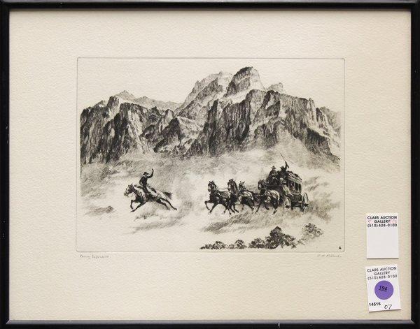 194: Print, R. H. Palenske, Pony Express