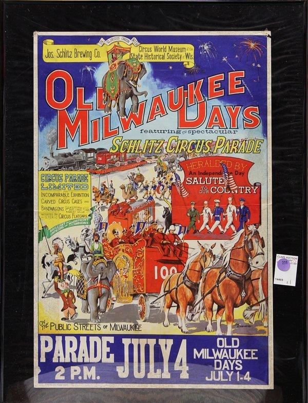 318: Circus Vargas Poster, Schlitz Circus