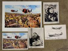 384 WWII Signed prints