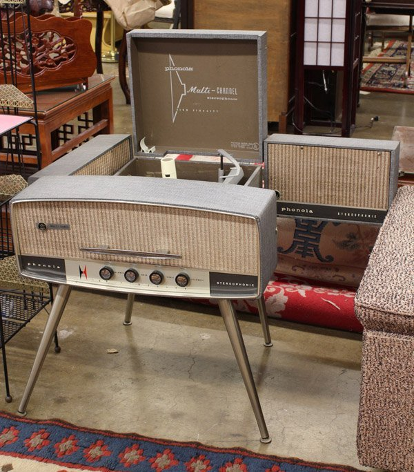 571: Mid Century Phonola record player