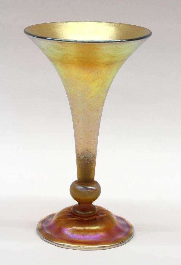 6004: Tiffany Studios trumpet vase