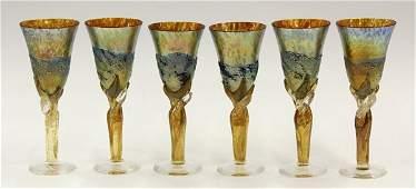 6008: Colin Heaney art glass stemware