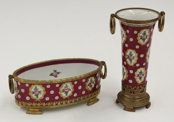 6017: Sevres style porcelain group