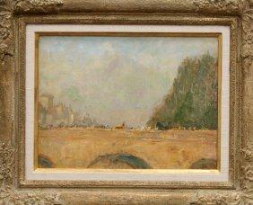 Painting, Lewis Cohen, Parisian Bridge