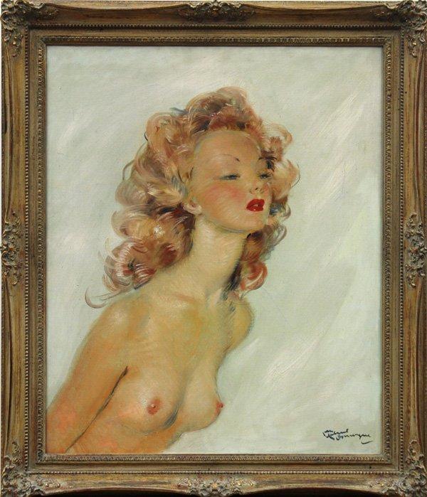 6116: Painting, Jean-Gabriel Domergue, Nude Antonia