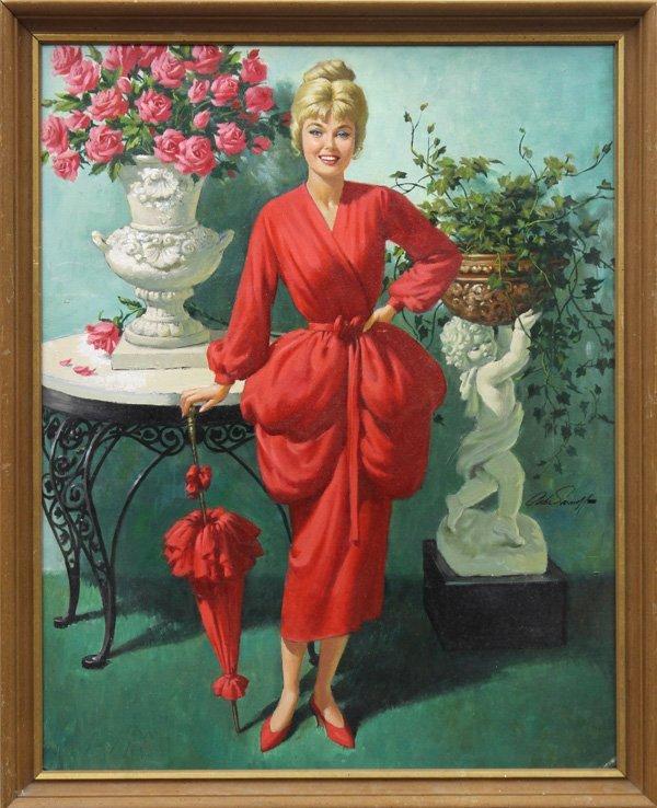 6118: Painting, Arthur Sarnoff, Blonde Bombshell