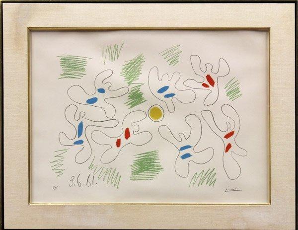 6190: Lithograph, Pablo Picasso, Football