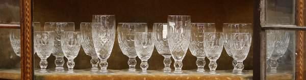 6338: Crystal stemware group