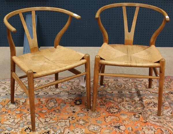 6367: Hans Wegner wishbone chairs