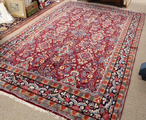 6372: Persian floral Khotan carpet