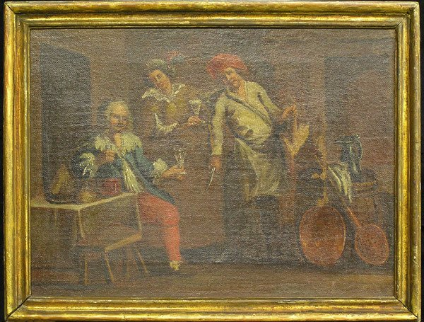 2008: Oil/canvas, Continental 18th Cent.