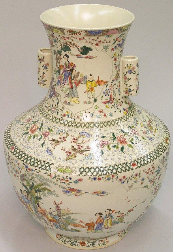 2072: Chinese Massive Enameled Vase, Qing