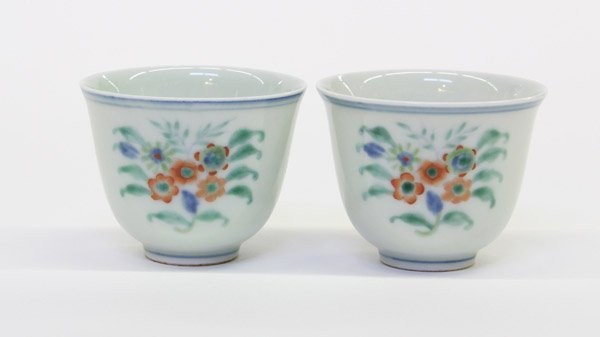 4018: Chinese Doucai Tea Cups