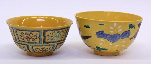 4019: Two Chinese Fahua Porcelain Bowls