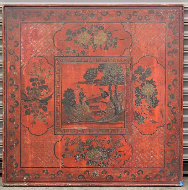 4143: Chinese Pigment and Lacquered Wood Panel