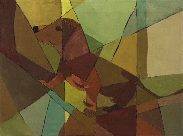 4174: Painting, Modern, Cubist Dog