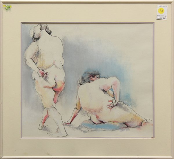 4178: Pastel, Figure Studies, signed ''D. Davis''
