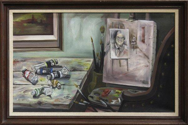 4183: Painting, Yitzhak Yamin, Studio